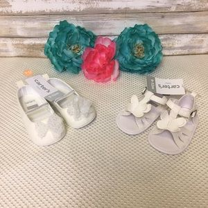 Carter's Bundle Shoes And Sandals, Size 9-12 Month